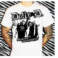 Dolly D. - weiß Punkrock lebenslänglich (Girlie-Shirt)